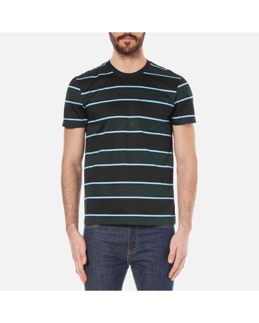 AMI | Black Men's Wide Stripe Tshirt for Men | Lyst