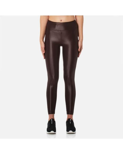 Koral | Brown Women's Lustrous High Rise Leggings | Lyst
