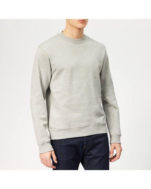 a2425f955 KENZO - Gray Back Logo Sweatshirt for Men - Lyst ...