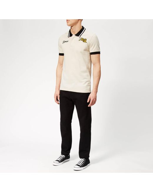 e5f65058 ... KENZO - Natural Beige Jumping Tiger Fitted Polo for Men - Lyst ...