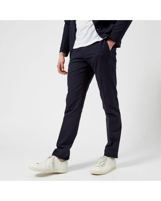 Officine Generale - Blue Officine Générale Men's Paul Seersucker Trousers for Men - Lyst