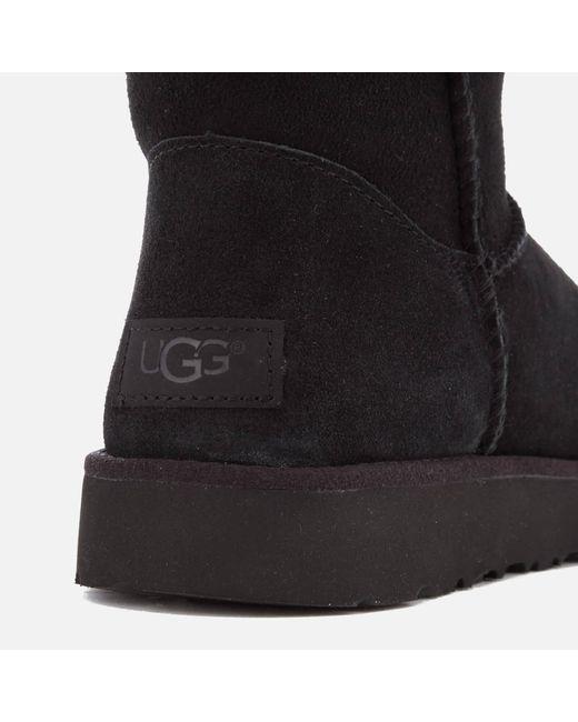 a1b42c7b149 Lyst - UGG Classic Cuff Short Sheepskin Boots in Black