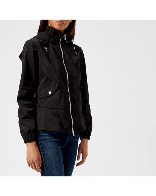 Emporio Armani - Black Women's Blouson Hooded Jacket - Lyst
