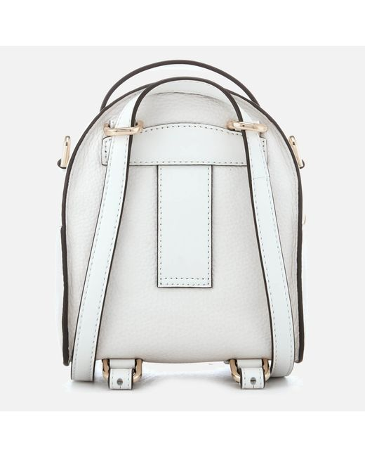 a70de6a09c ... MICHAEL Michael Kors - White Jessa Extra Small Convertible Backpack -  Lyst ...