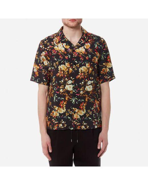 McQ Alexander McQueen - Black Men's Billy Floral Print Shirt for Men - Lyst