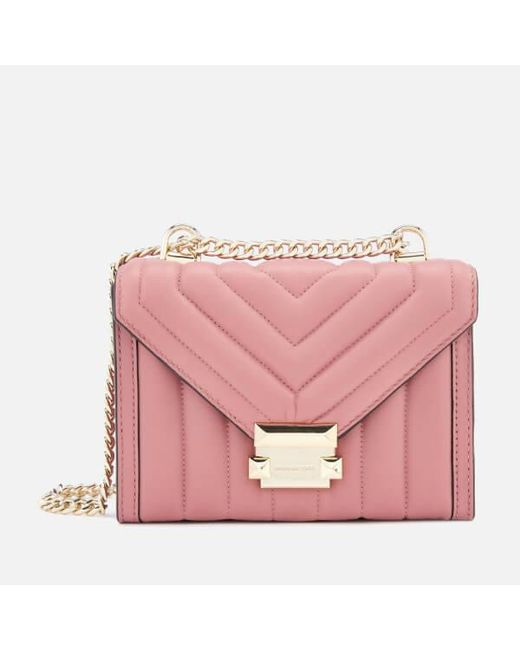 56be46d173ba MICHAEL Michael Kors - Pink Whitney Shoulder Bag - Lyst ...