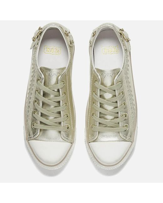 f17e184b0c ... Ash - Metallic Virgo Iron Low Top Trainers - Lyst ...