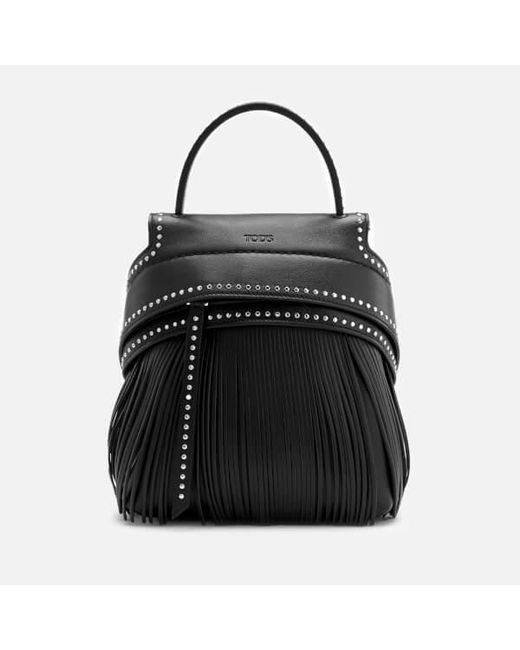 Tod's - Black Women's Fringe Backpack - Lyst