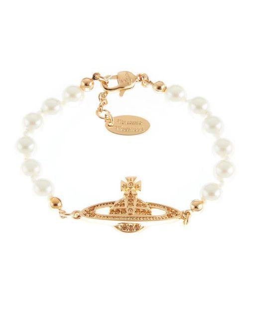 Vivienne Westwood - Metallic Jewellery Women's Mini Bas Relief Bracelet - Lyst