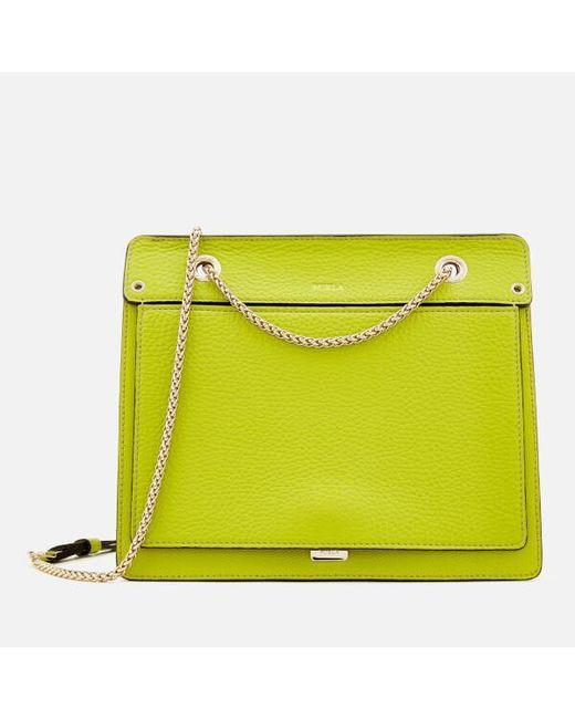 6389e979109 Furla - Green Women s Like Small Chain Cross Body Bag - Lyst ...