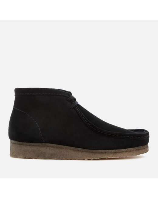 Clarks - Black Wallabee Suede Chukka Boots for Men - Lyst
