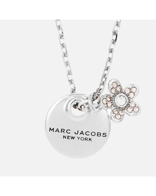 Marc Jacobs | Metallic Women's Mj Coin Crystal Pendant | Lyst