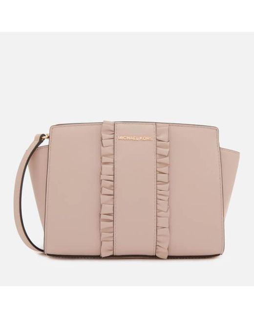bf53393f3391 MICHAEL Michael Kors - Pink Women s Selma Medium Messenger Bag - Lyst ...