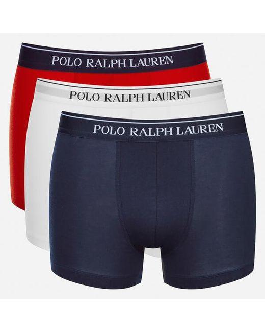 Polo Ralph Lauren - Red Men's 3 Pack Boxer Shorts for Men - Lyst