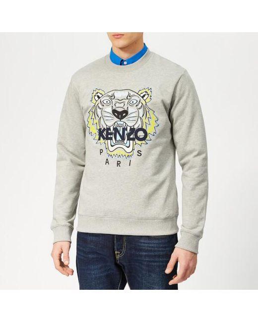 a840e9ca2 KENZO - Gray Men's Icon Sweatshirt for Men - Lyst ...