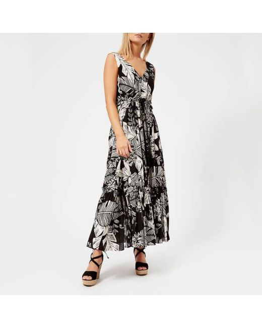 See By Chloé - Black See By Chloe Women's Palm Print Maxi Dress - Lyst