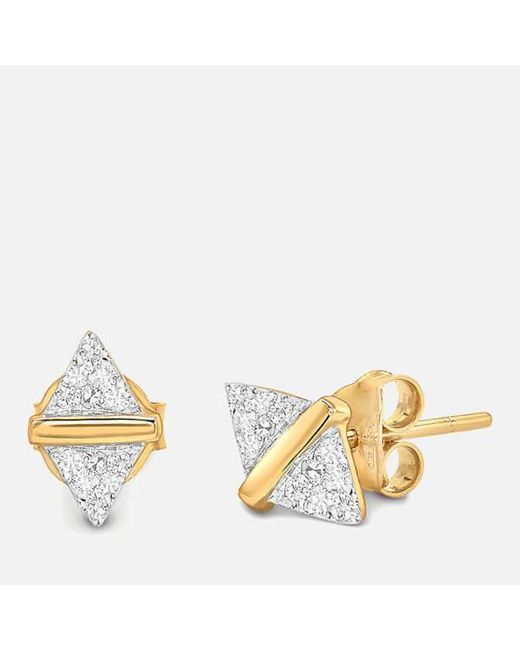 Missoma | Women's Nexus White Pavé Zircon Stud Earrings | Lyst