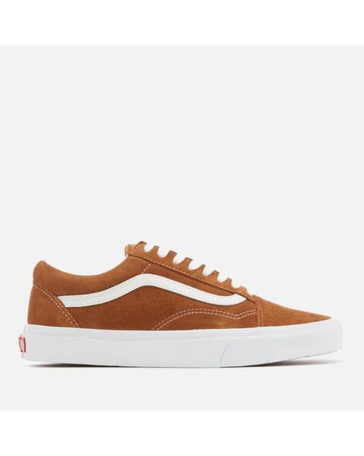 4c4faf2b3ad Vans - Brown Men s Old Skool Suede Trainers for Men - Lyst ...