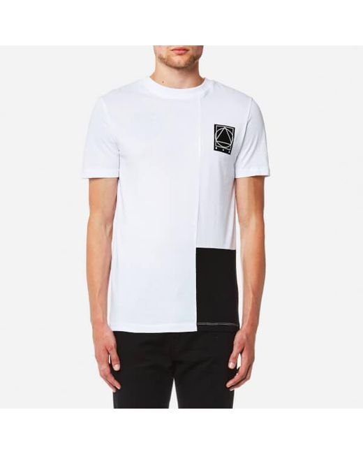 McQ Alexander McQueen | White Men's Colourblock Short Sleeve Tshirt for Men | Lyst