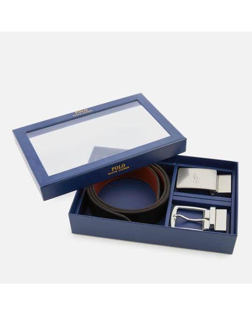 Polo Ralph Lauren - Black Men's Leather Belt Gift Box for Men - Lyst
