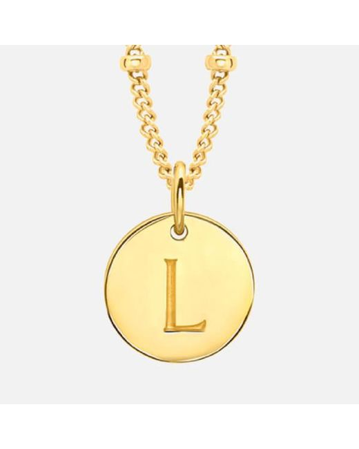 Missoma - Metallic Women's Initial Charm Necklace L - Lyst