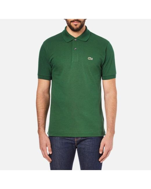 c16b478d4 ... top quality lacoste green short sleeve pique polo shirt for men lyst  f91b2 cca29