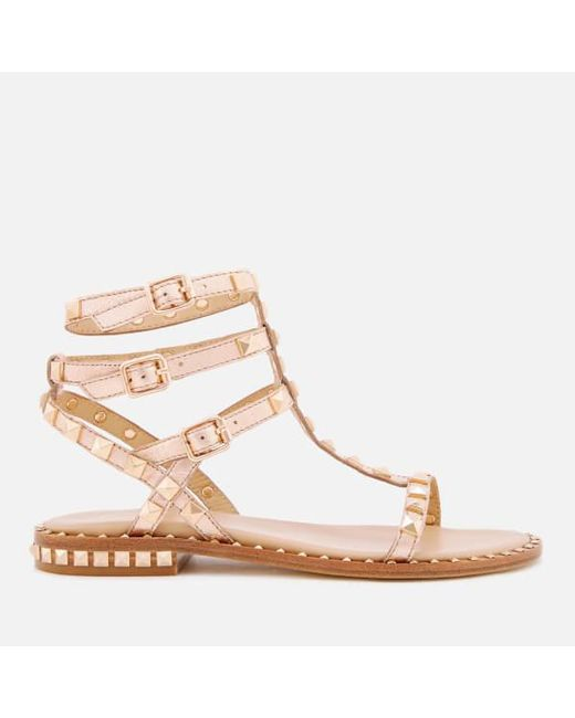 Ash Embroidered studded tassle sandals