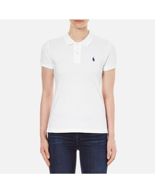 Polo Ralph Lauren | White Women's Skinny Fit Polo Shirt for Men | Lyst