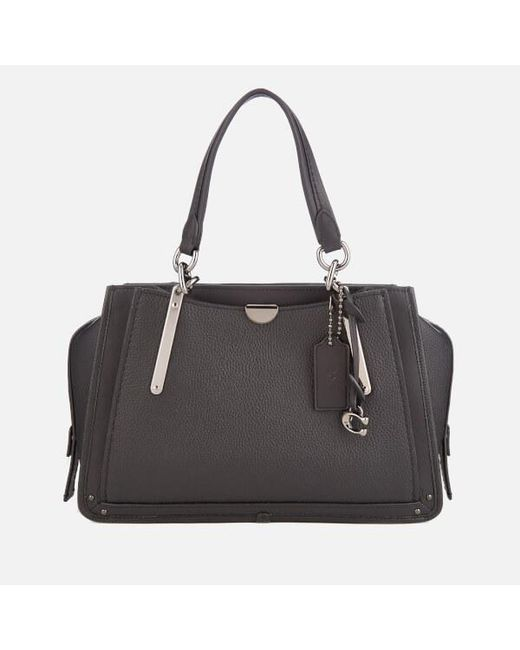 213ec5d0f078e COACH - Black Women s Mixed Leather With Pebble Dreamer Bag - Lyst ...