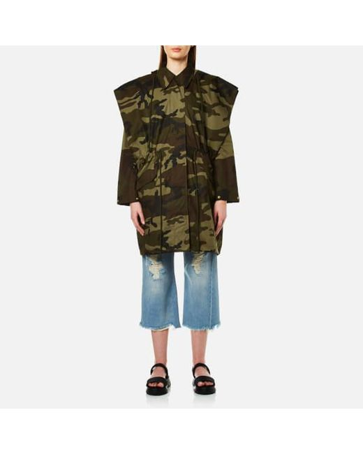 MM6 by Maison Martin Margiela - Green Women's Oversized Camouflage Parka - Lyst