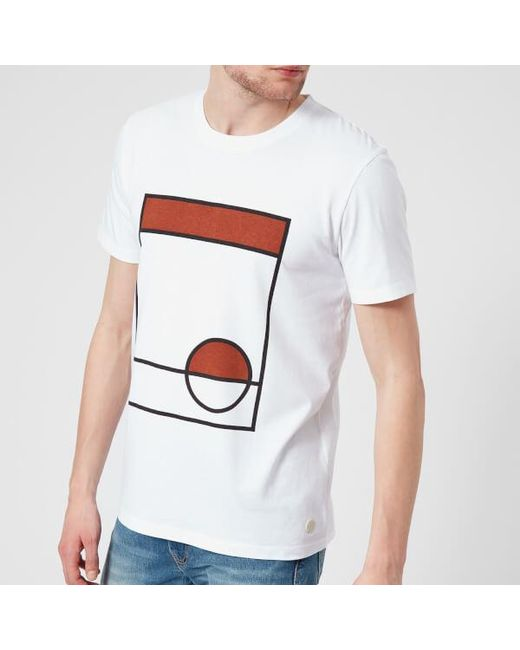 Folk - White Men's Half Moon Tshirt for Men - Lyst