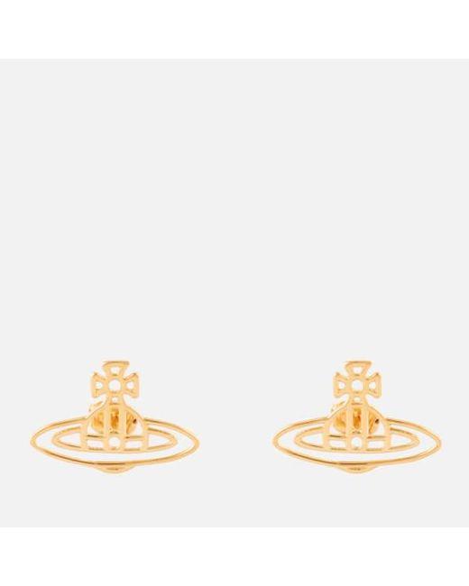 Vivienne Westwood - Metallic Jewellery Women's Mini Bas Relief Pierced Earrings - Lyst