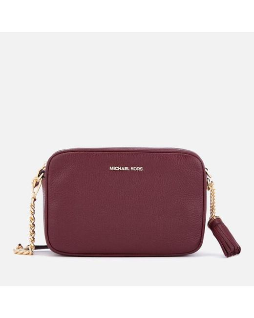 ea38432c0a6d Michael Michael Kors Women s Ginny Medium Camera Bag in Purple - Lyst