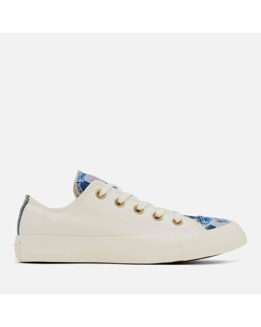dd99297c99047b Converse Women s Chuck Taylor All Star Ox Trainers in White - Lyst