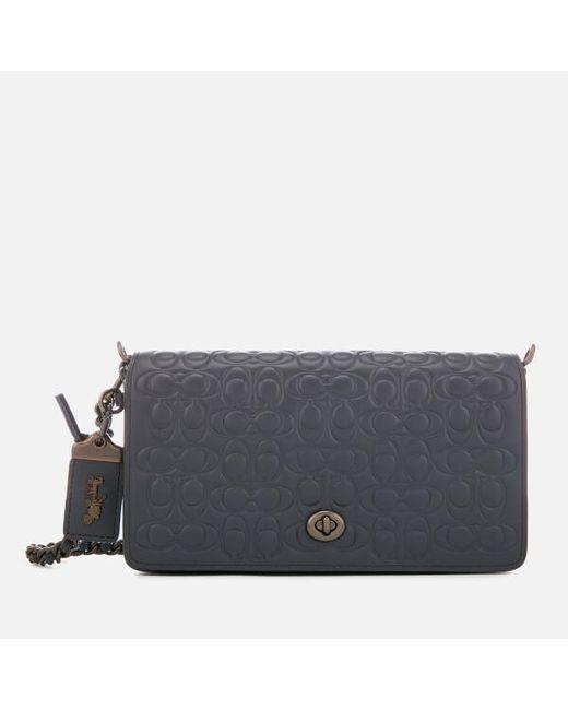 7a9537f50b9 COACH - Blue Women s Dinky Cross Body Bag - Lyst ...