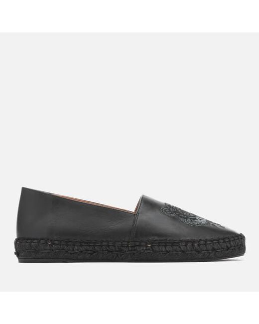 KENZO - Black Women's Classic Leather Tiger Espadrilles - Lyst