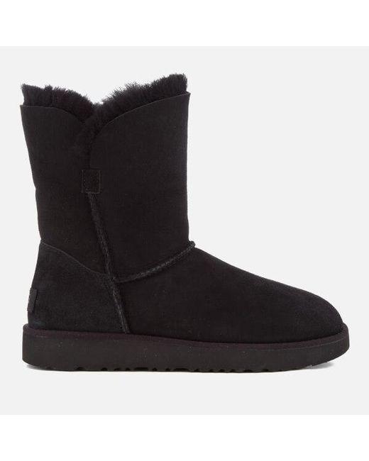 Ugg - Black Women's Classic Cuff Short Sheepskin Boots ...