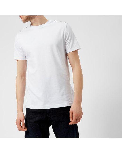 Aquascutum - White Men's Southport Cc Shoulder Short Sleeve Tshirt for Men - Lyst