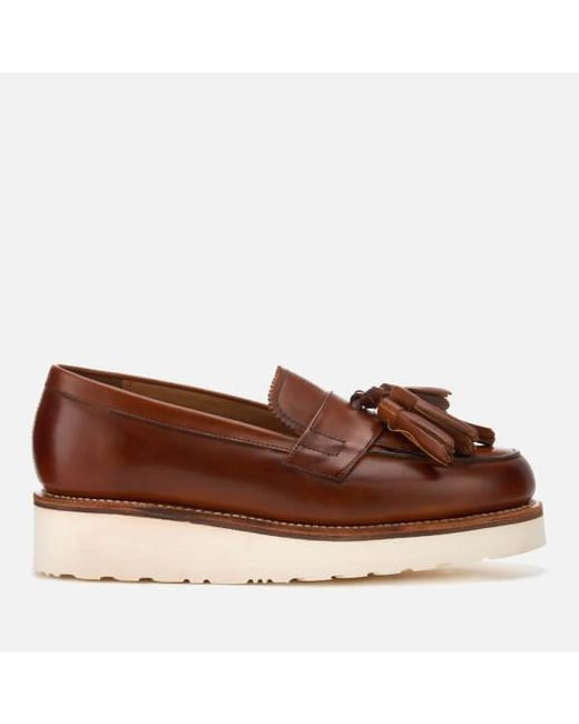 GRENSON Women's Clara Hand Painted Leather Tassle Loafers