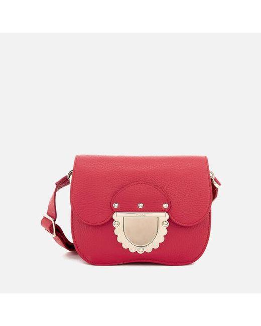 Furla Ducale red leather small crossbody Wa3ajP