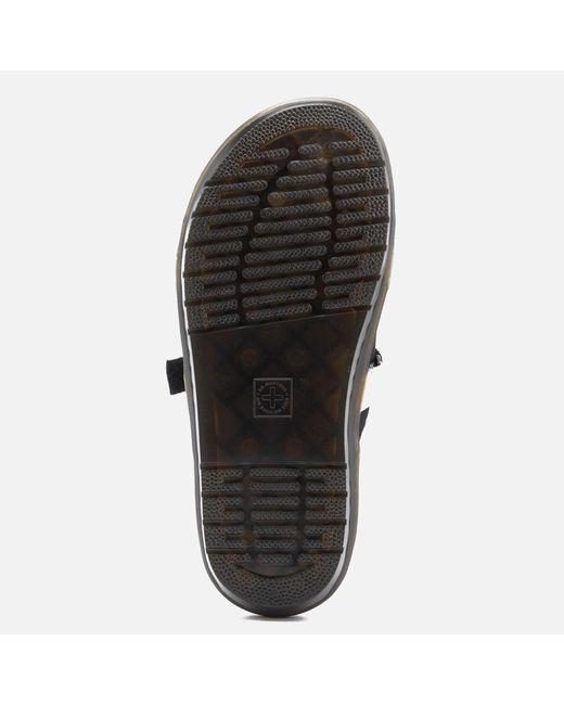 8c7a63355acf ... Dr. Martens - Black Nerida Neoprene Webbing Slide Sandals - Lyst ...