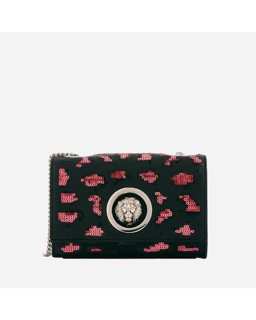 Versus  | Multicolor Women's Lion Leopard Sequin Small Chain Clutch Bag | Lyst