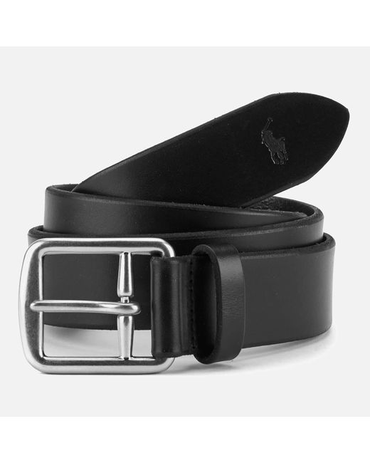 Polo Ralph Lauren - Black Saddle Leather Belt for Men - Lyst