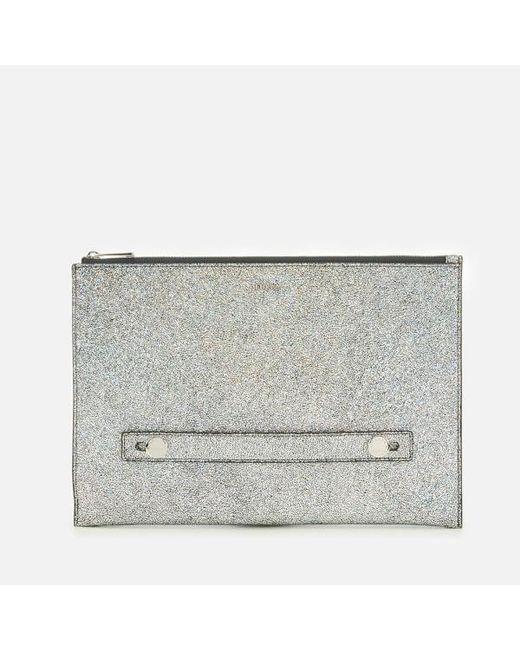 Furla Metallic Women S Arcobalove Xl Envelope Bag