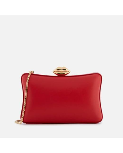 Lulu Guinness | Red Women's Smooth Leather Lavinia Bag | Lyst