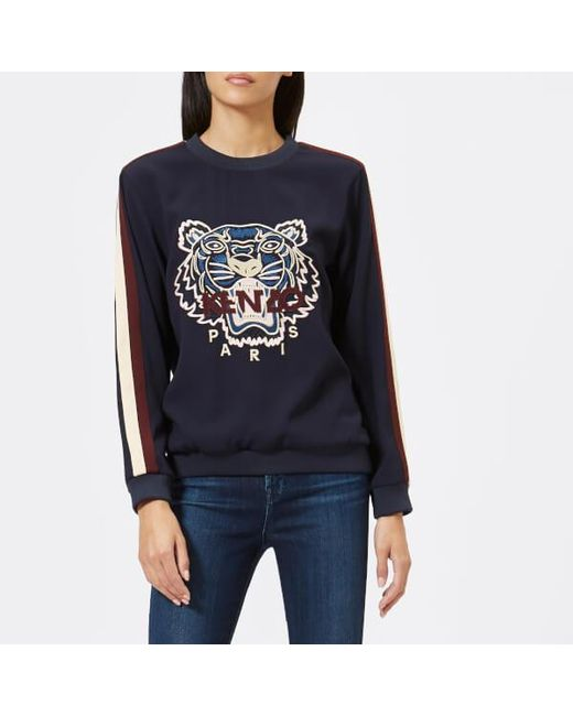 KENZO - Blue Women's Crepe Back Satin Tiger Jumper - Lyst
