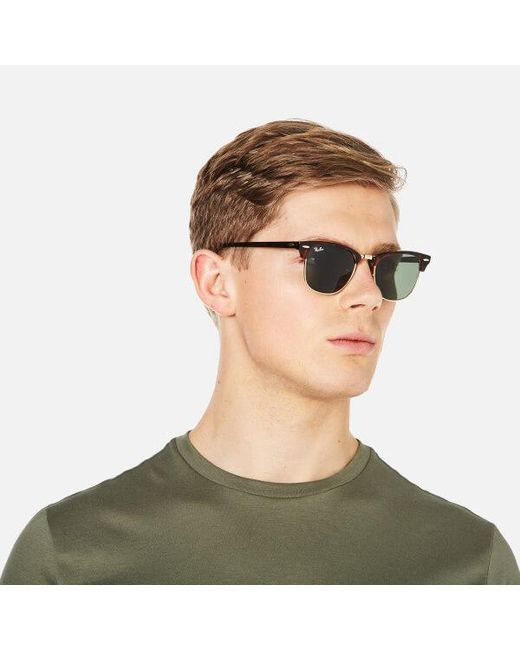 Lyst - Ray-Ban Rayban Clubmaster Sunglasses 49mm in Brown - Save 9% 63b3a4bea6