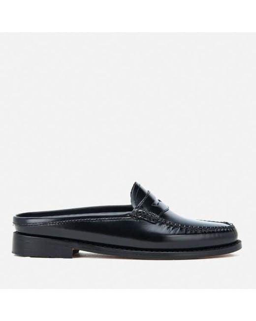 G.H. Bass & Co. | Black Women's Penny Slide Wheel Print Leather Slide Loafers | Lyst
