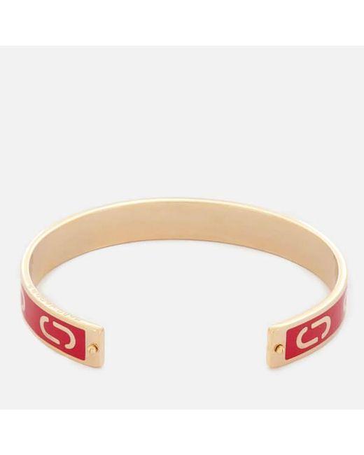 Marc Jacobs - Metallic Women's Double J Enamel Cuff Bracelet - Lyst
