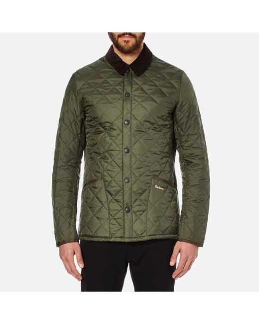 Barbour Heritage Men's Liddesdale Quilt Jacket in Green for Men | Lyst : barbour mens quilted jackets - Adamdwight.com